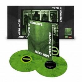 TYPE O NEGATIVE-SLOW, DEEP AND HARD VINYL GREEN BLACK  081227890933