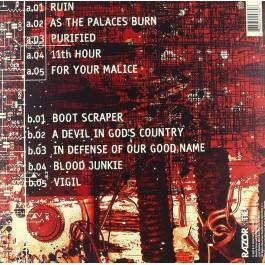 LAMB OF GOD-AS THE PALACES BURN VINYL RED SPLATTER. 888072157606