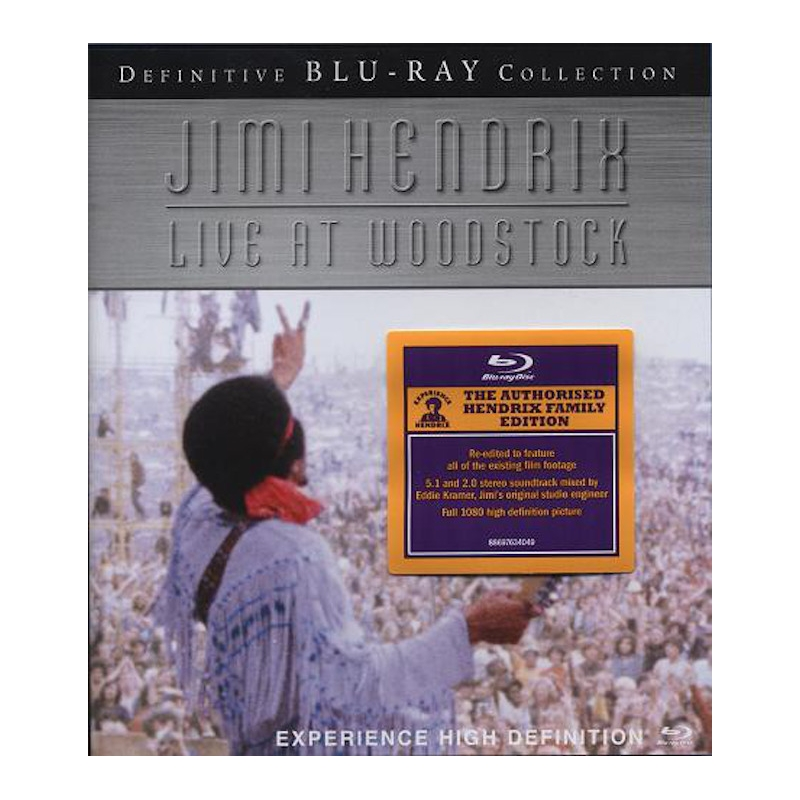 JIMI HENDRIX-LIVE AT WOODSTOCK BLU-RAY