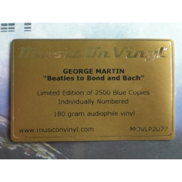 GEORGE MARTIN-BEATLES TO BOND AND BACH VINYL