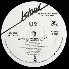 U2-WITH OR WITHOUT YOU VINYL