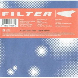 FILTER-TITLE OF RECORD CD